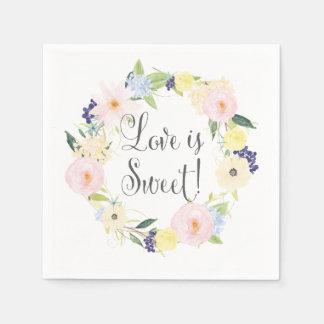 För kranbröllop för vår blom- servetter för följe
