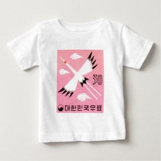 För kranporto för vintage Korea 1960 Röd-Krönat T-shirts