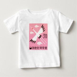 För kranporto för vintage Korea 1960 Röd-Krönat T Shirts
