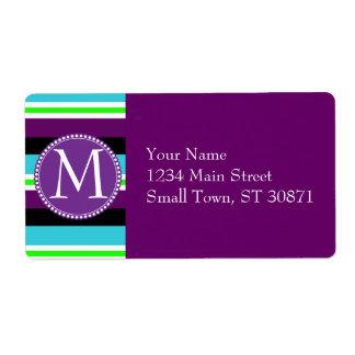 För krickablått för färgrika randar purpurfärgad fraktsedel
