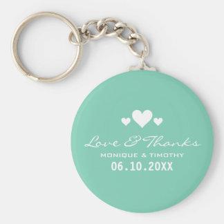 För krickabröllop för älsklingar mjukt tack rund nyckelring