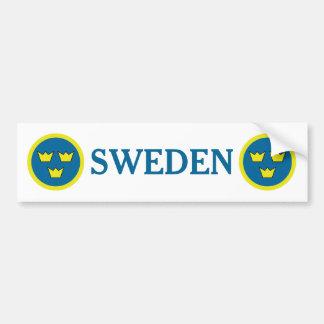 För kronasvensk för sverige tre Emblem Bildekal