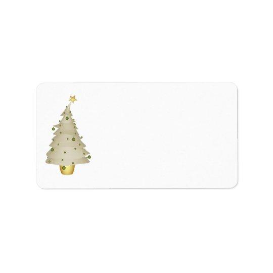 För KRW för julaftonträd lite etikett för adress Adressetikett
