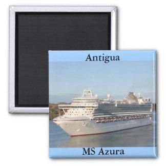 För kryssningfrakt för ms Azura närbild på Antigua Magnet