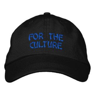 För kulturen broderad keps