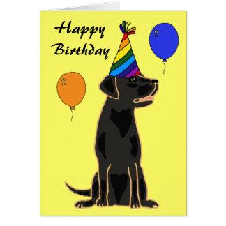 För Labrador för AU svart kort födelsedag