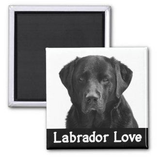 För Labrador för kärlek svart hund för valp Magnet