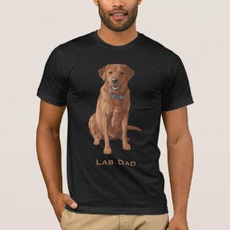 För Labrador för labbpapparäv röd gul hund T-shirt