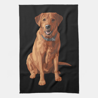 För Labrador för räv röd gul hund Retriever Kökshandduk
