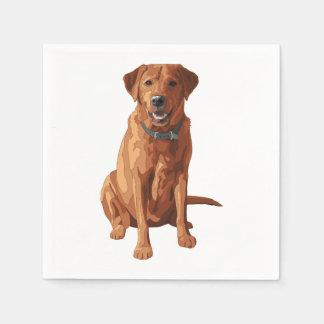 För Labrador för räv röd gul hund Retriever Papper Servetter