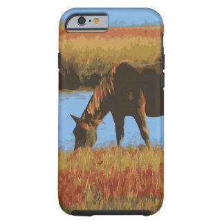 För landiPhone 6 för häst betande fodral Tough iPhone 6 Fodral