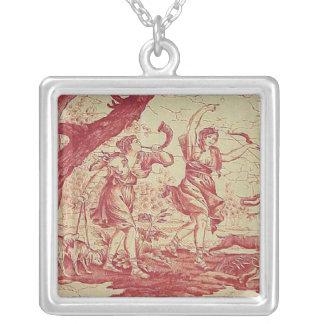 För landsterling silver för vintage franskt silverpläterat halsband