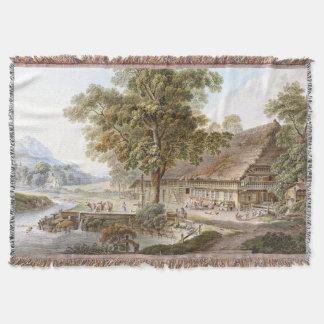 För lantbrukarhemflod för alperna schweizisk filt