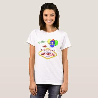 För Las Vegas för bärnsten 33rd skjorta födelsedag Tröjor