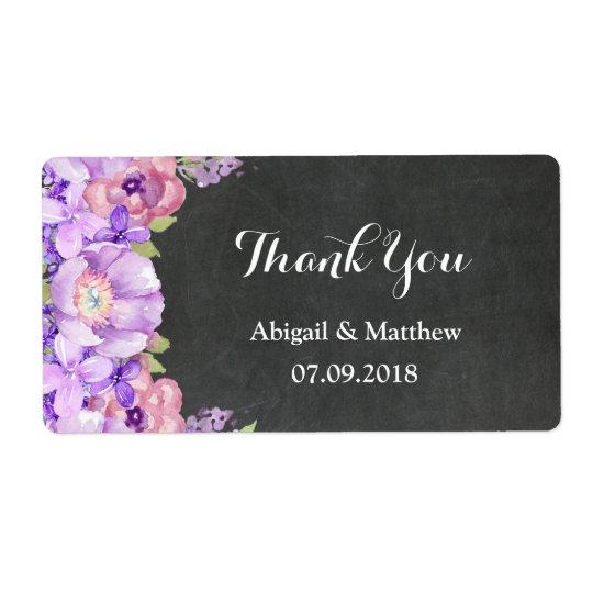 För lavendelblommigt för svart tavla purpurfärgad fraktsedel