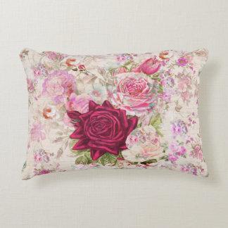 För lavendelro för vintage bohemiska rosa blommor prydnadskudde