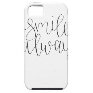 För leende iphone case alltid tough iPhone 5 fodral