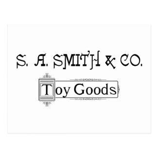 För leksakgodor för S A. Smed & Co.-logotyp 1888 Vykort