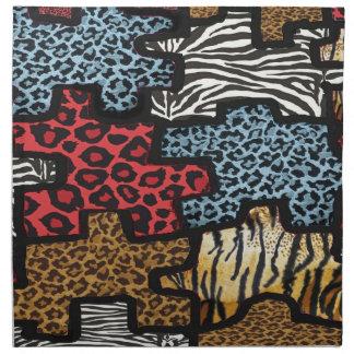 För Leopardsebra för RAB Rockabilly servett för tr
