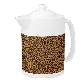 För Leopardtryck för RAB Rockabilly kruka för Tea