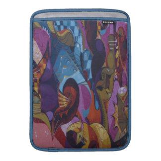 För lilaabstrakt för blått röda grafitti MacBook sleeve