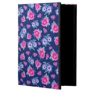 För lilablått för eleganta ro blom- rosa mönster powis iPad air 2 skal
