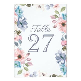 För lilablomma för pastellfärgade blått rosa kort 12,7 x 17,8 cm inbjudningskort