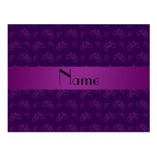 För lilacykel för personlig känt mönster vykort