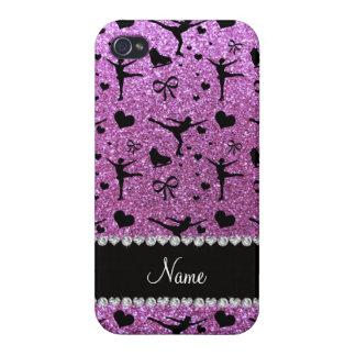 För lilaglitter för anpassningsbar känd pastellfär iPhone 4 cover