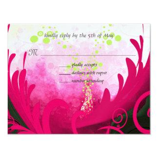 För liljablomma för rosa Calla inbjudan för