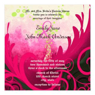 För liljabröllop för rosa Calla inbjudan