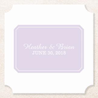 För lilor elegant bröllop enkelt underlägg papper