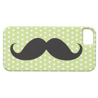 För limefruktgrönt för den svart mustaschen iPhone 5 cover