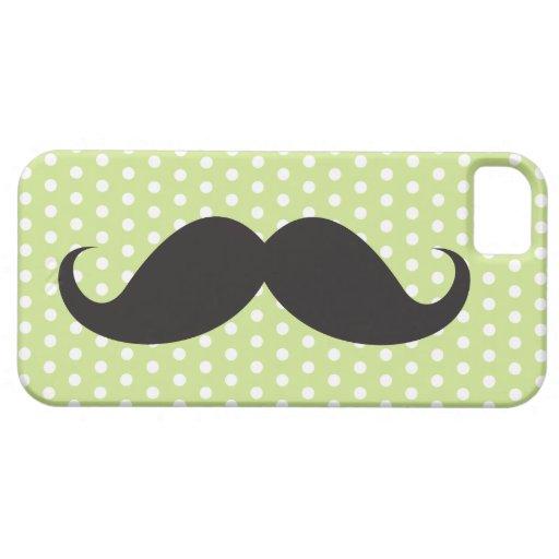För limefruktgrönt för den svart mustaschen pricke iPhone 5 skal