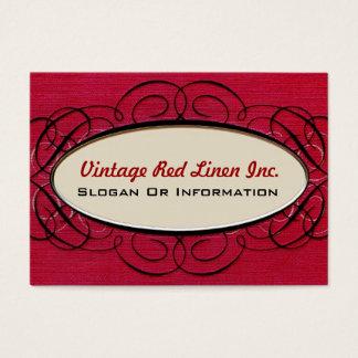 För linneelegant för vintage röda visitkortar visitkort