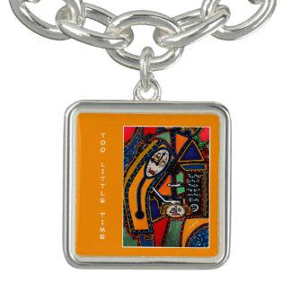 För lite Time på orangen - Time lappar Armband