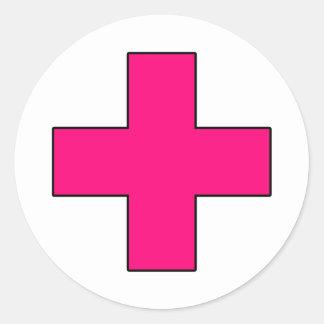 För livbesparing för läkarundersökning argt runt klistermärke