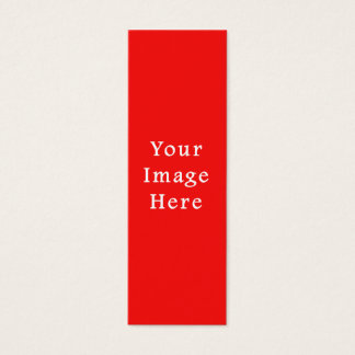 För ljus röd tom mall färgtrend för neon litet visitkort