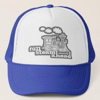 """för locotåg """"för full ånga framåt"""" mono hatt truckerkeps"""