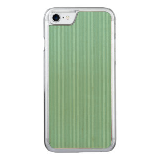 För lodrätrandar för Mint grönt mönster Carved iPhone 7 Skal