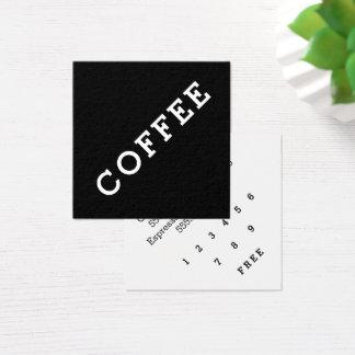 För lojalitetkaffe för enkelt ord mörk fyrkantigt visitkort
