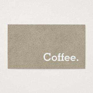 För lojalitetkaffe för enkelt ord mörkt ben för visitkort