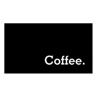 För lojalitetkaffe för enkelt ord mörkt visitkort