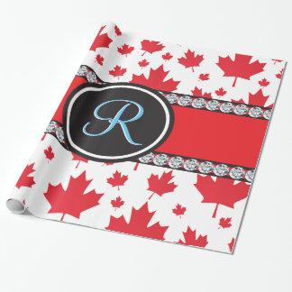 För lönnlövabstrakt för kanadensisk flagga presentpapper