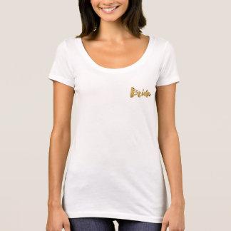 För Looktypografi för brud elegant guld- möhippa T-shirt