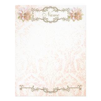 För lotusblommablomma för brevhuvud gammal rosa pä