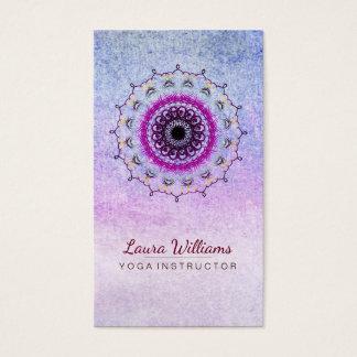 För lotusblommablomma för Mandala Holistic Visitkort