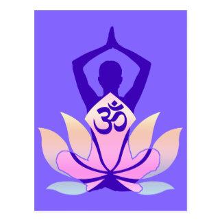 För lotusblommablomma för OM Namaste andlig Yoga Vykort
