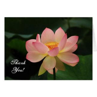 För lotusblommablomma för Serenity rosa tack för Hälsningskort