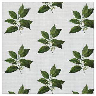 För lövverktryck för vintage botaniskt tyg